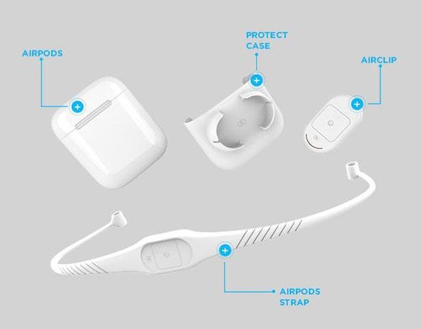苹果AirPods遭吐槽?近期发布的Airclip来救你!
