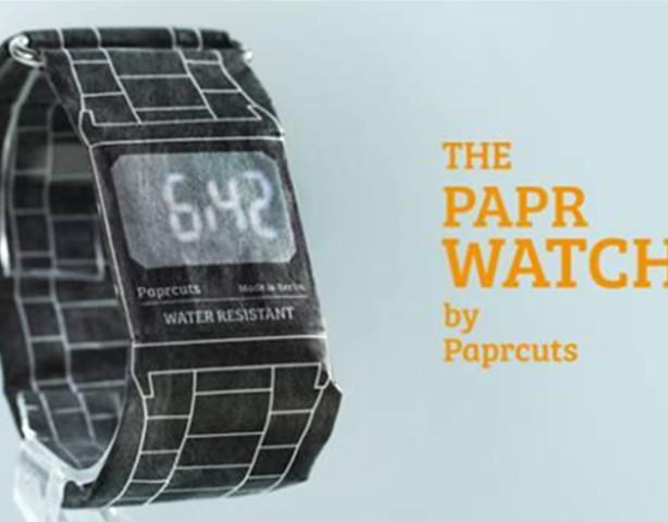 这个用纸做的手表 不怕水撕不坏