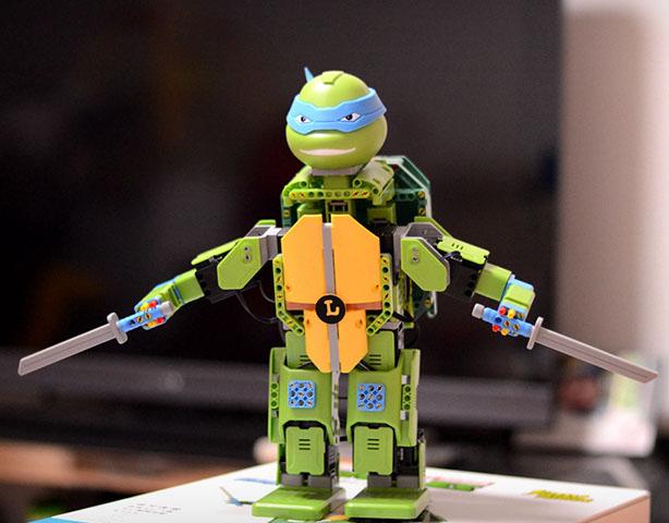 会动的积木,忍者龟机器人JIMU Robot体验视频